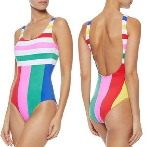 Onia Kelly Striped One Piece Swimsuit
